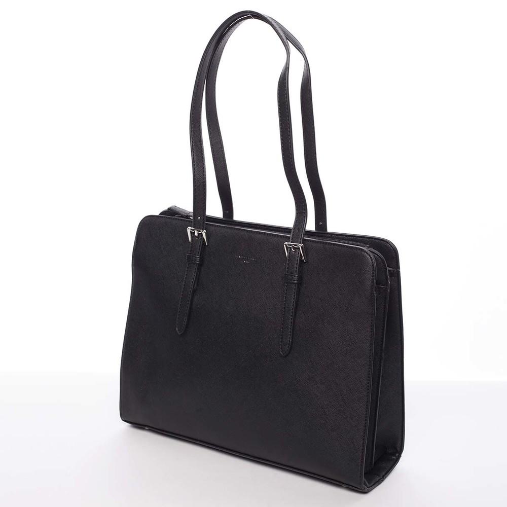 ... Elegantní černá dámská kabelka přes rameno saffiano - David Jones  Penelope ... dc53a69a10e