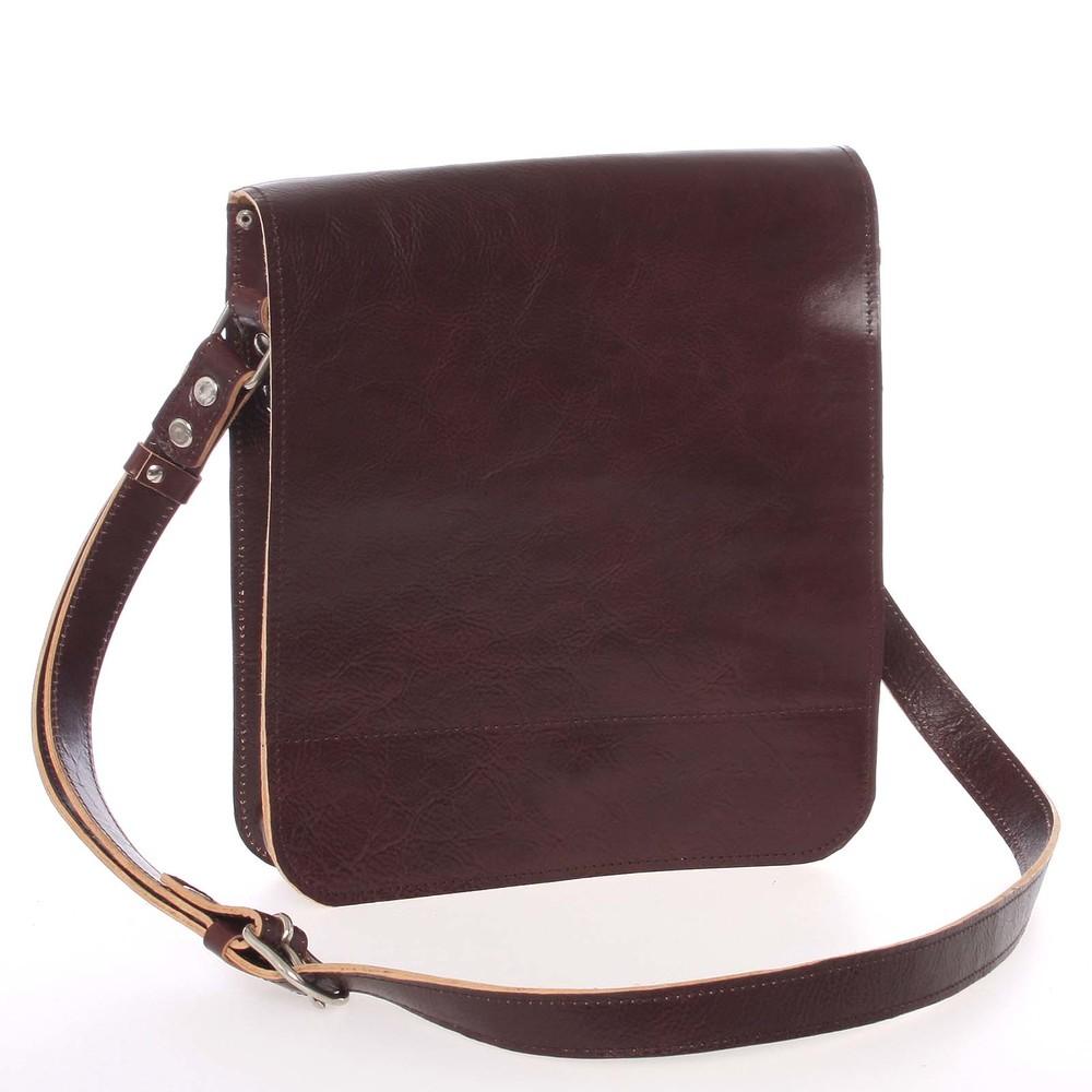 bba90a247 Tmavo hnedá luxusná kožená taška cez rameno KABEA Luxor - Kabea.cz