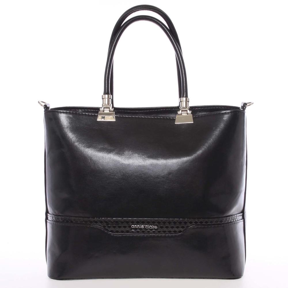 Väčšia elegantná čierna dámska kabelka - Annie Claire 4081 - Kabea.cz 5d7ed98a439