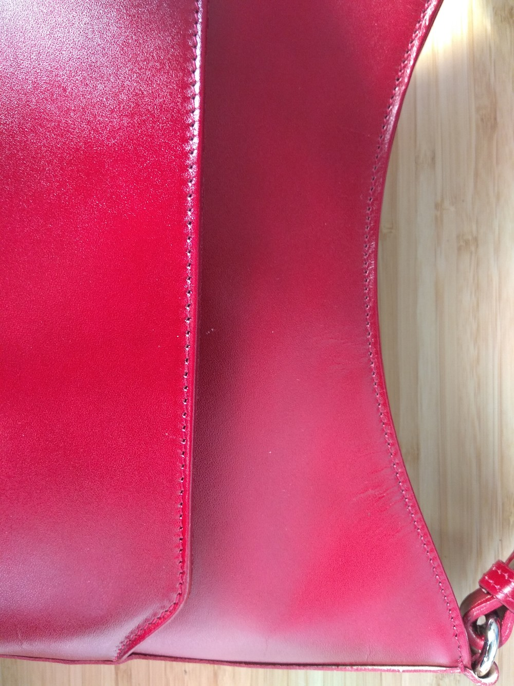 Červená kožená kabelka cez rameno ItalY Lydia - Kabea.cz 48faf8672bf
