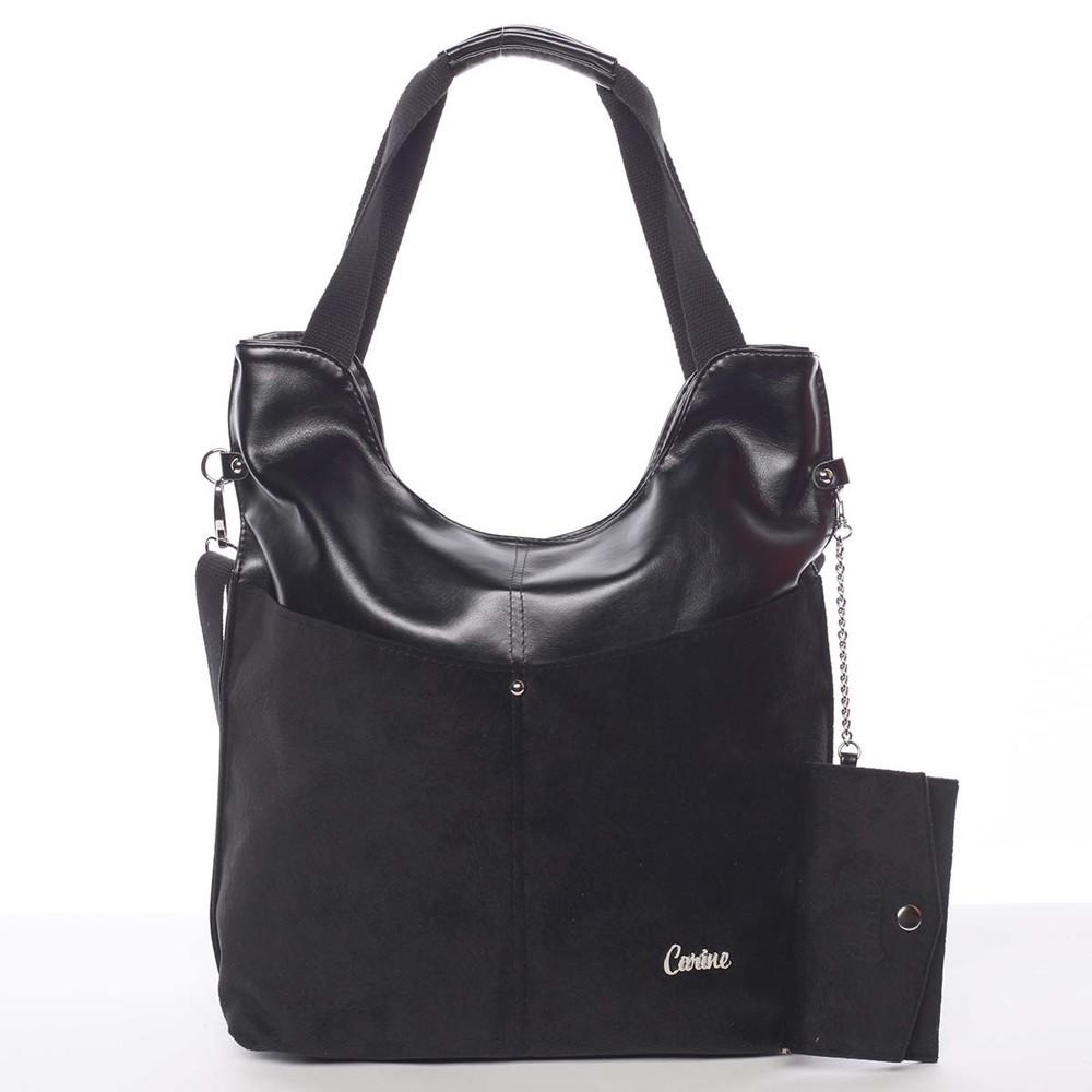 Moderná dámska kabelka čierna - Carine Kaleigh - Kabea.cz 158bb638e10