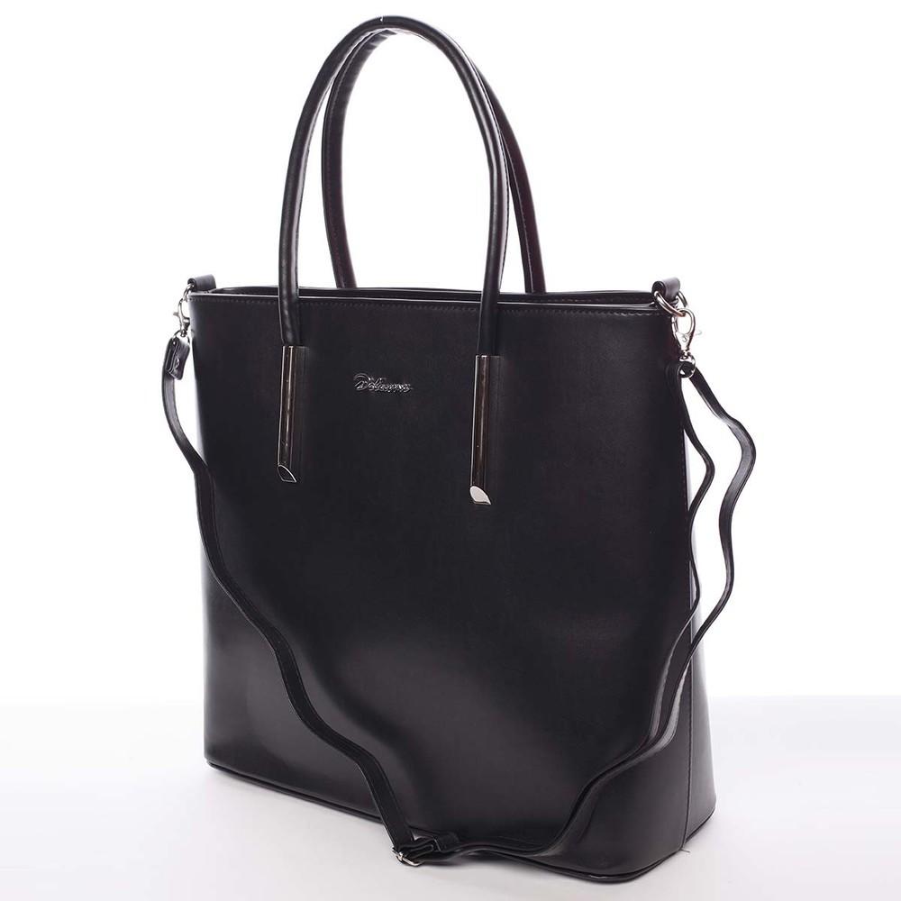 Dámska luxusná kabelka čierna saffiano - Maggio Devin - Kabea.cz d00a3cb9991
