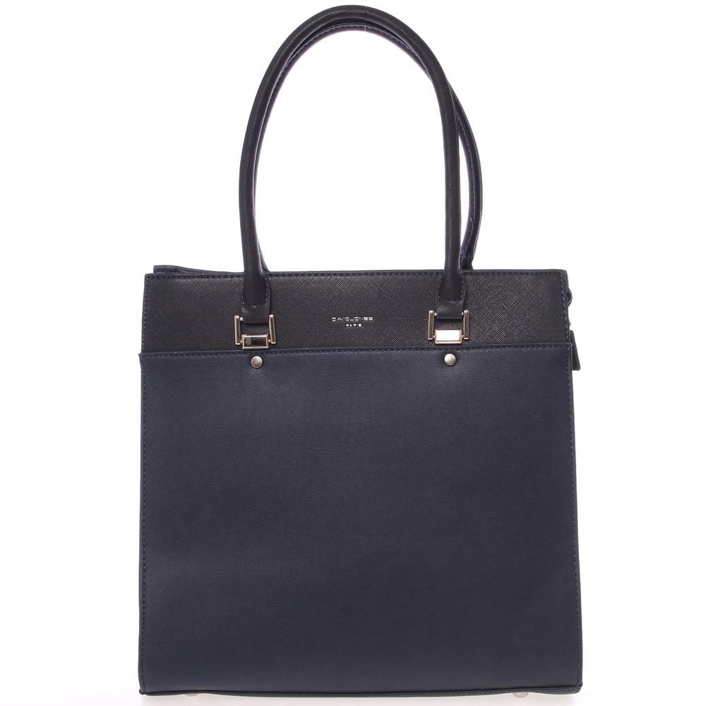 Módní tmavě modrá menší kabelka do ruky - David Jones Hayley - Kabea.cz 1053839ff2f