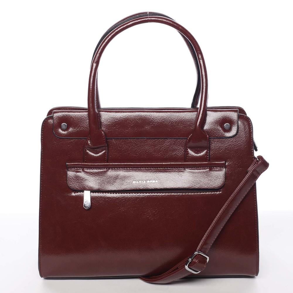 ca316b55e5c9 Elegantná pevná dámska kabelka do ruky tmavočervená - Silvia Rosa Takeon ...