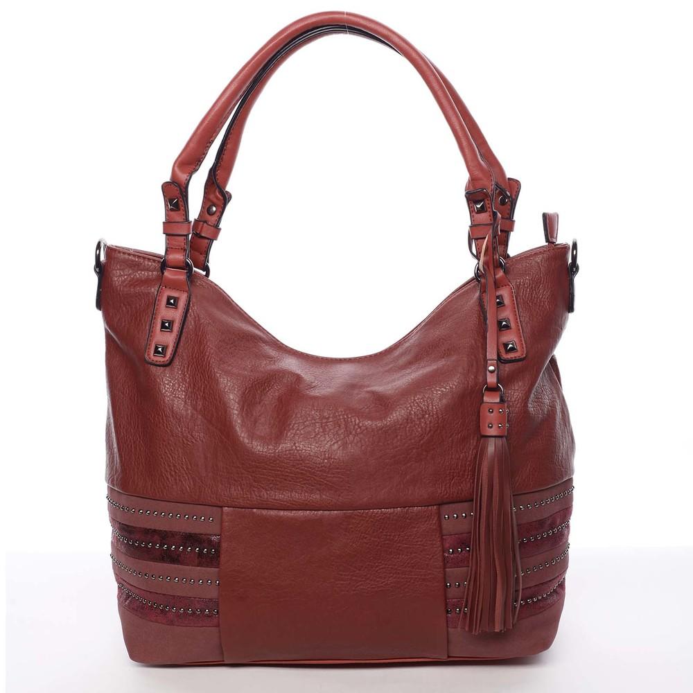 1fa3736d83 Velká módní měkká červená kabelka přes rameno - MARIA C Titania ...