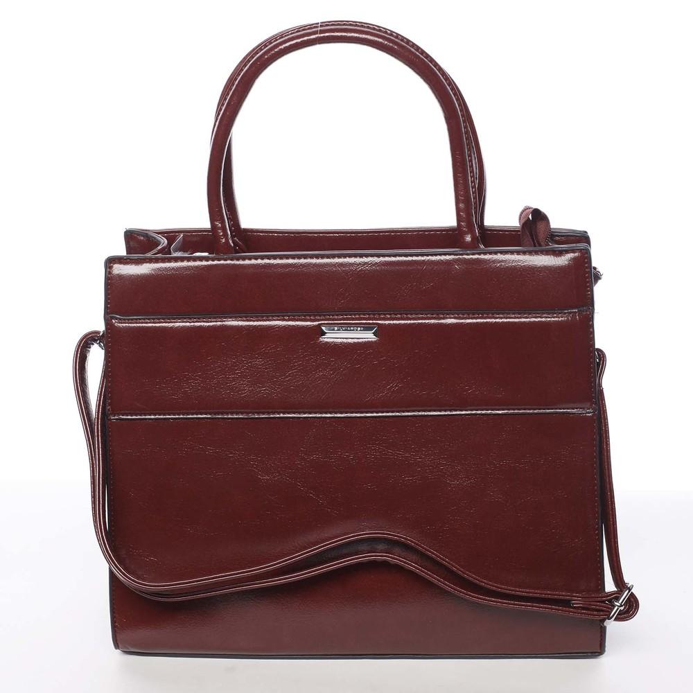 Dámska tmavočervená atraktívna kabelka - Silvia Rosa Selena - Kabea.cz 4004c813d50