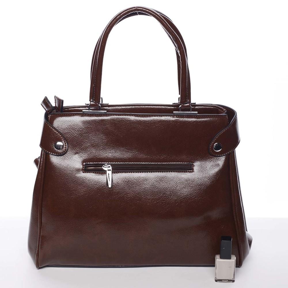 90329588ff01 ... Luxusná moderná dámska hnedá kabelka do ruky - Silvia Rosa Venus ...