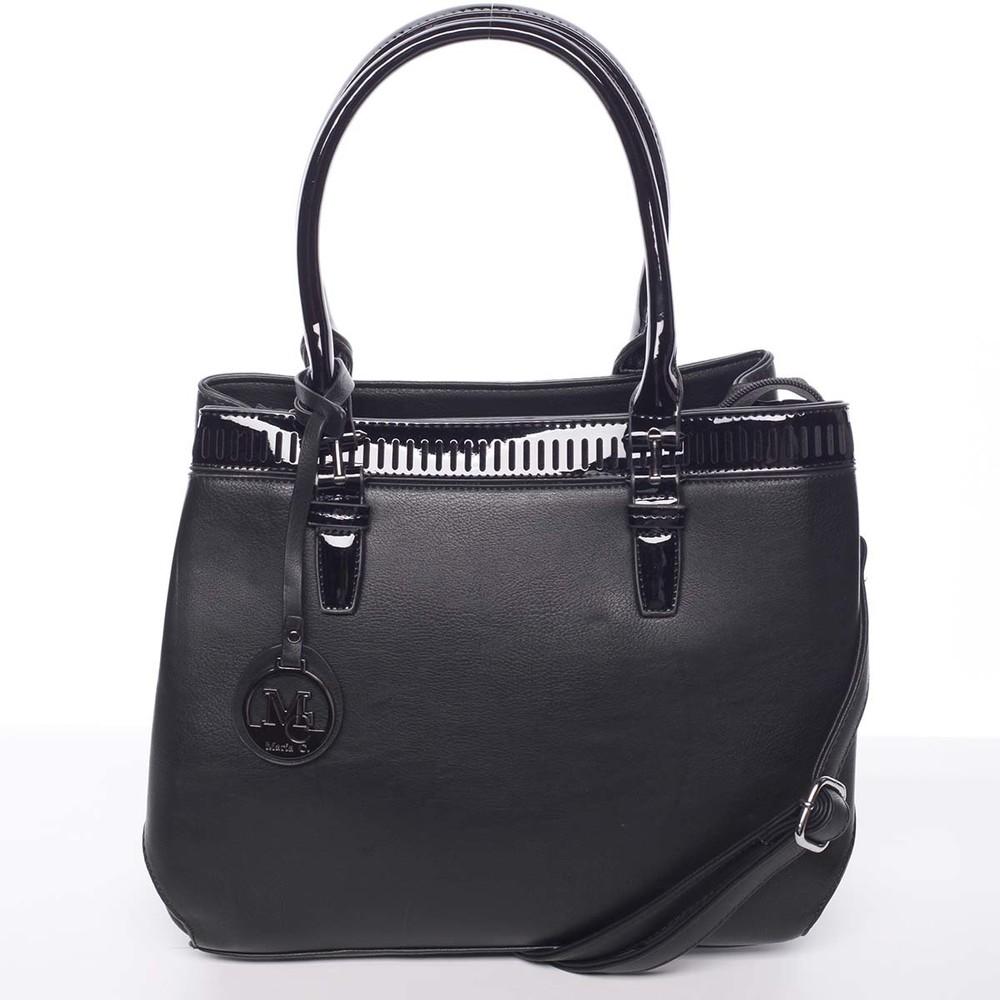 4e0e46de6 Elegantná a štýlová čierna kabelka cez rameno - MARIA C Thalassa ...