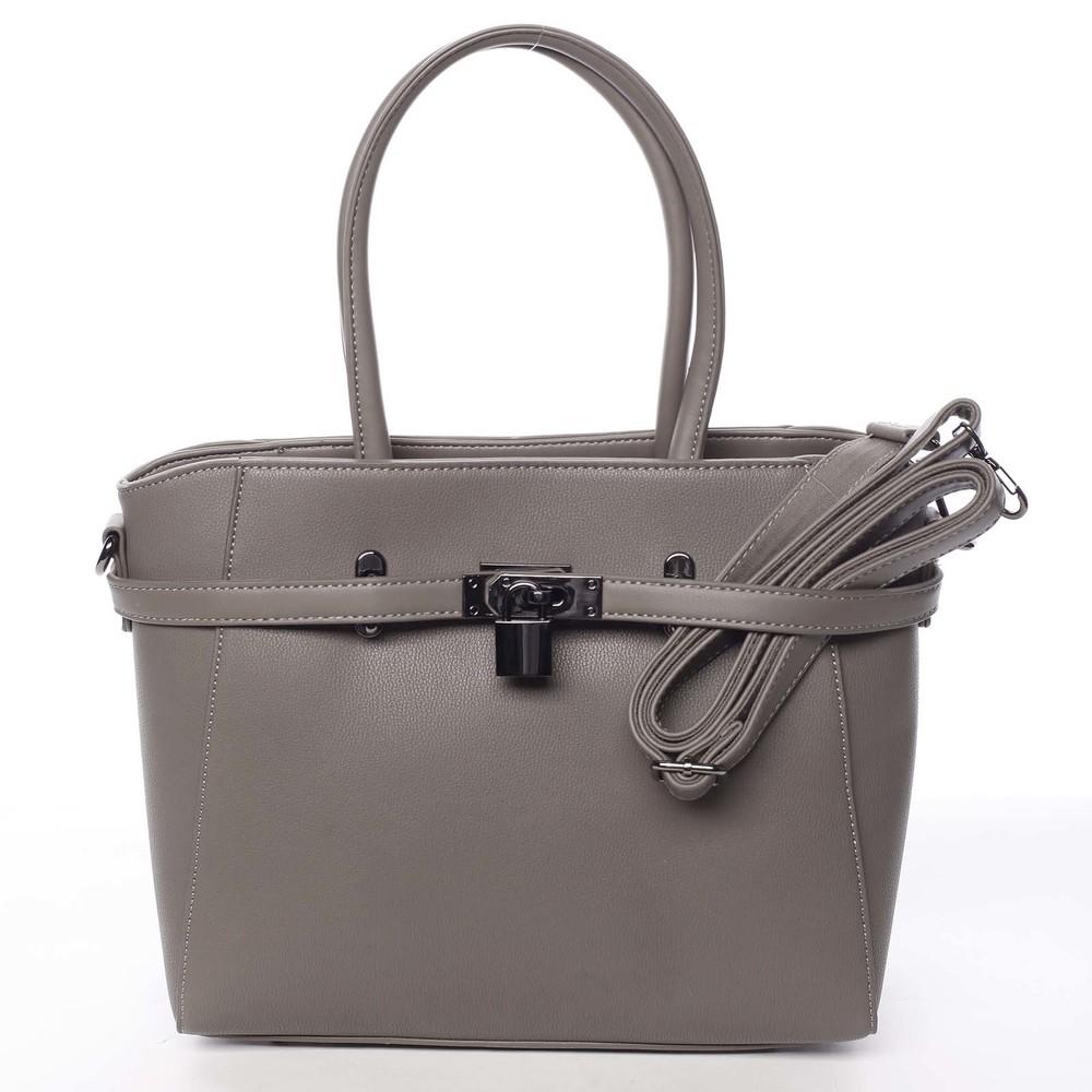 c0a8a5d200 Luxusné štýlová menšie tmavá taupe kabelka do ruky - David Jones Haless ...