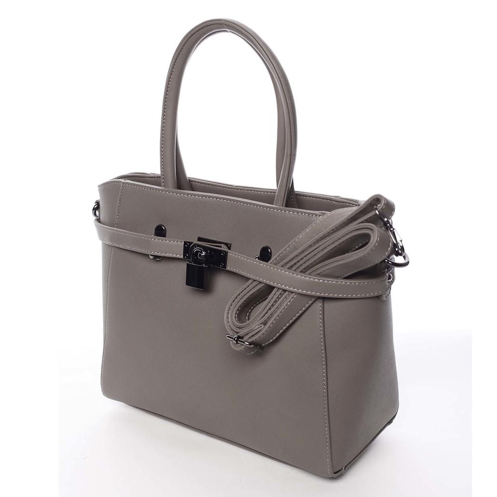 74cc22c3a6 ... Luxusné štýlová menšie tmavá taupe kabelka do ruky - David Jones Haless  ...