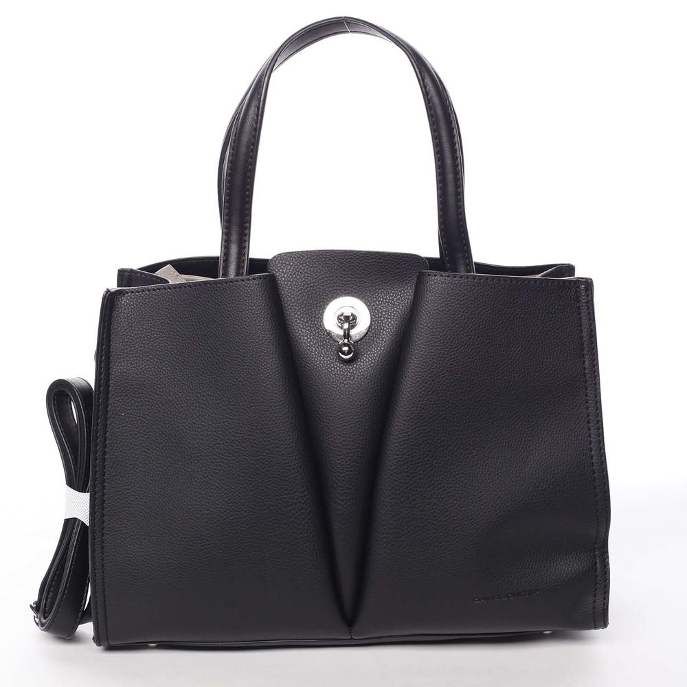 699a6fd899 Luxusná dámska čierna kabelka do ruky - David Jones Aedon - Kabea.cz