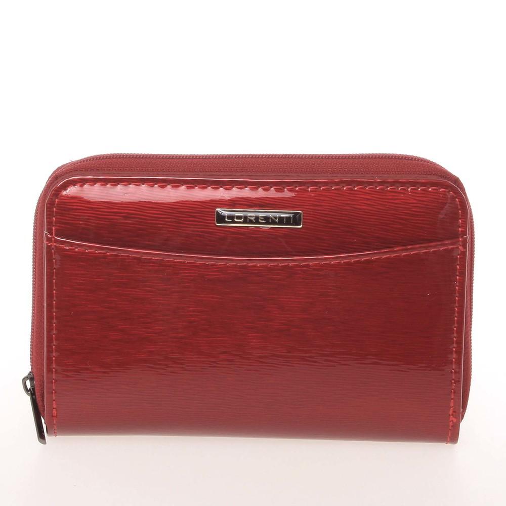 Luxusná dámska lakovaná kožená peňaženka červená - Lorenti 0112SH ... 40380296e07