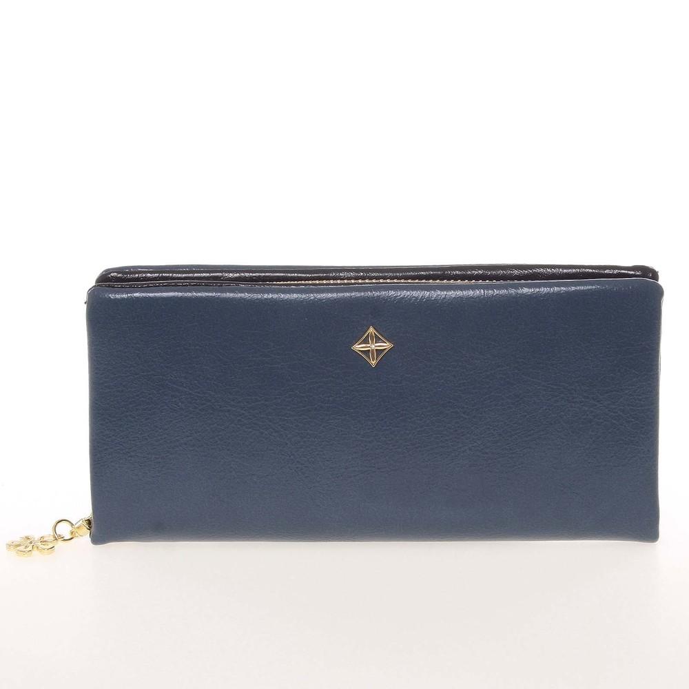 b8812751e262 Módna dámska peňaženka listová kabelka modrá - Milano Design SF1803 ...