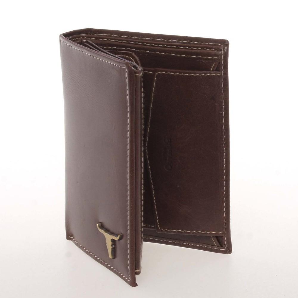 b5ab5914e0 Kvalitná pánska kožená hnedá peňaženka - BUFFALO Paden - Kabea.cz
