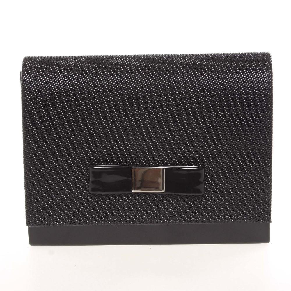 2a32f09e84 Luxusná dámska listová kabelka čierna so vzorom lesklá - Delami Chicago  Fresno ...