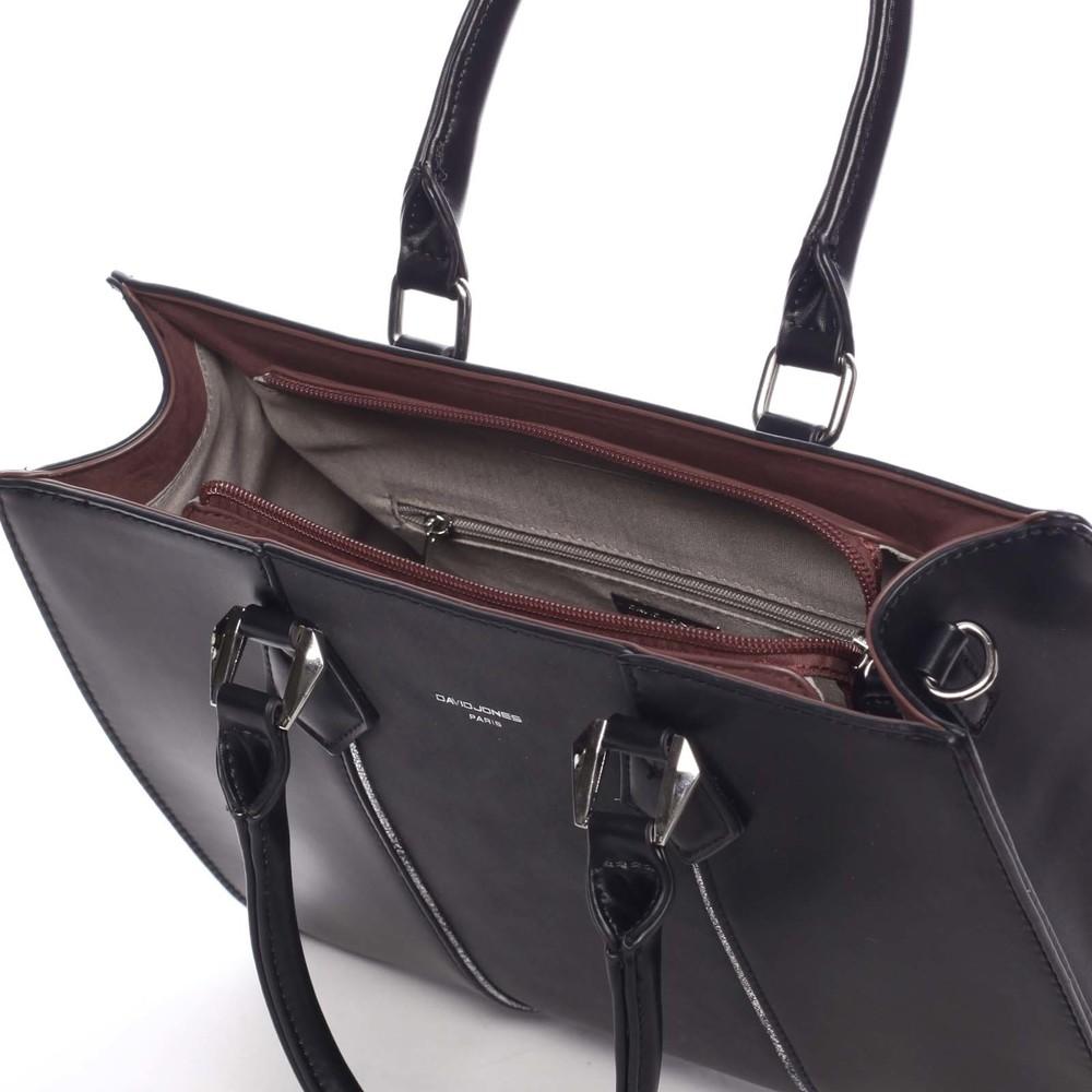 Elegantná dámska čierna kabelka do ruky - David Jones Zeruiah - Kabea.cz f2ee79200f1