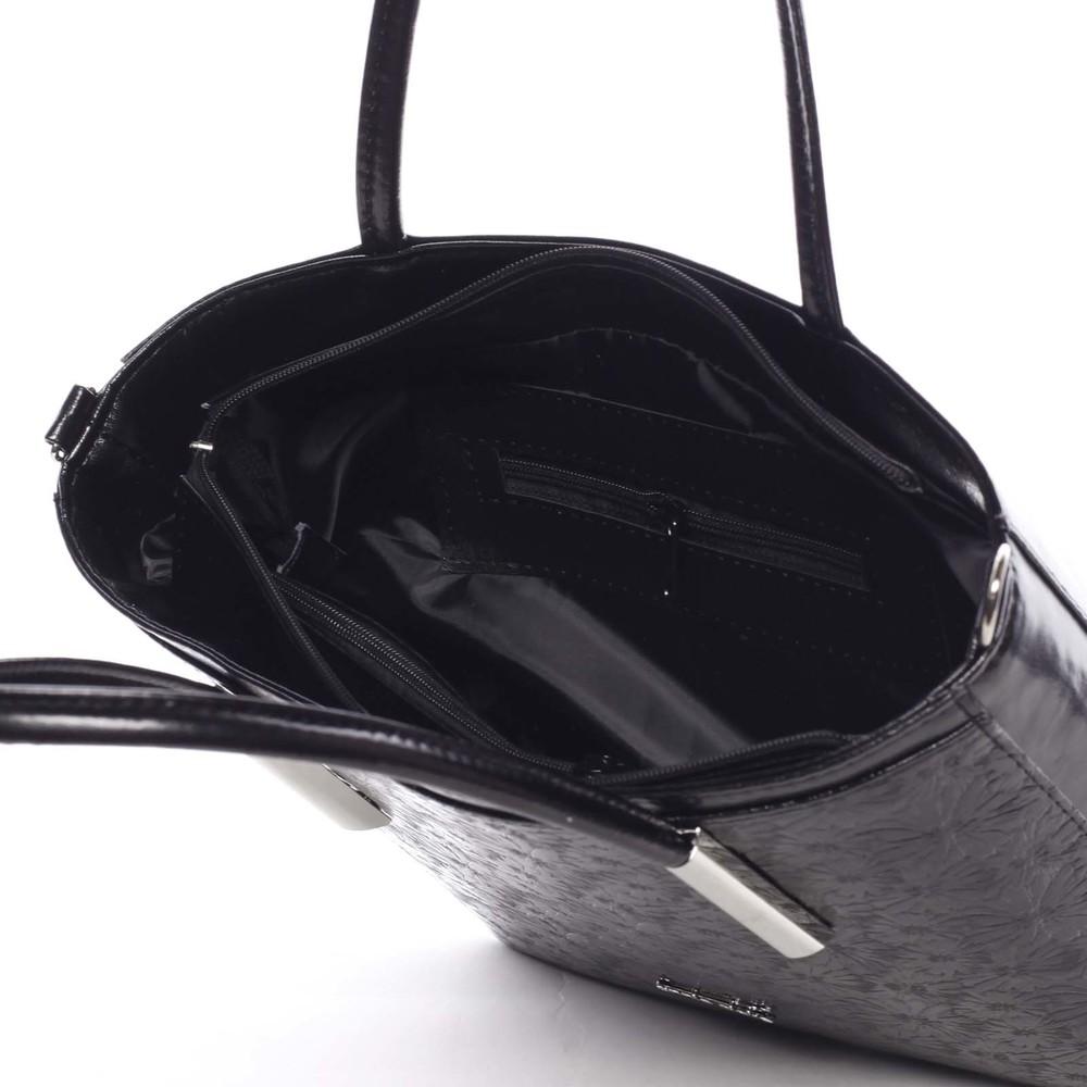 Dámska jemná čierna kabelka so vzorom kvetín - Annie Claire Flower ... a36fa9c3bd1