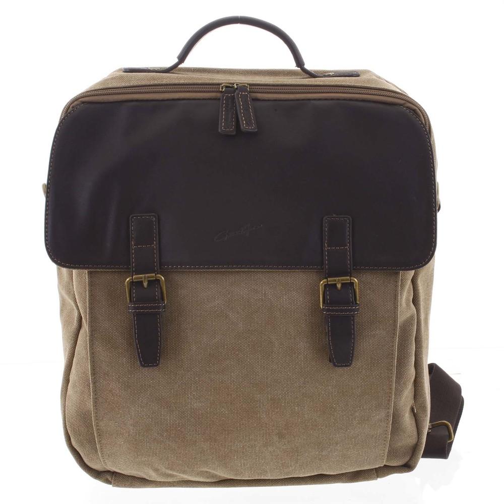 Luxusní pánský batoh-taška přírodní - Gerard Henon Yves - Kabea.cz 1eed9843116