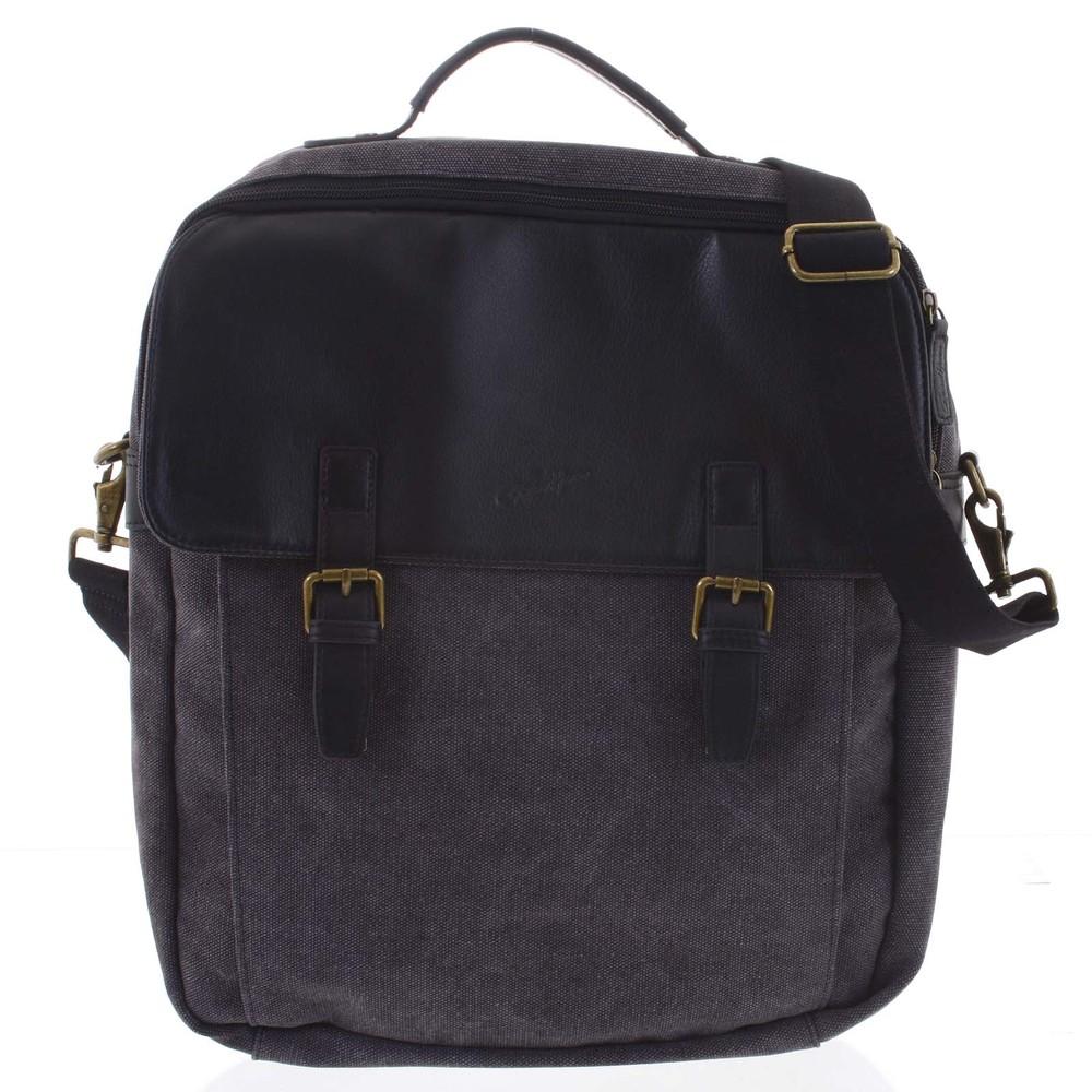 Luxusní pánský batoh-taška černý - Gerard Henon Yves - Kabea.cz 64f66bcce37