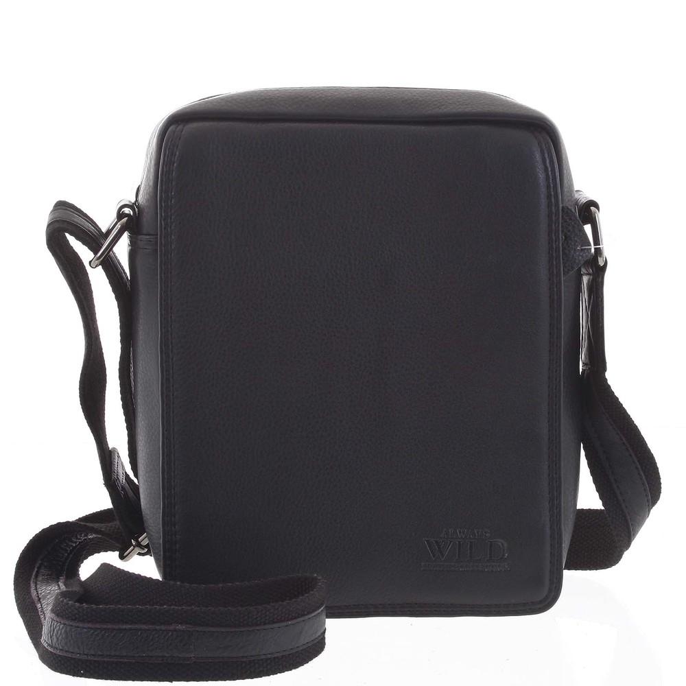 Čierna stredná pánska kožená taška - WILD Chapin - Kabea.cz 28af7a89f4d