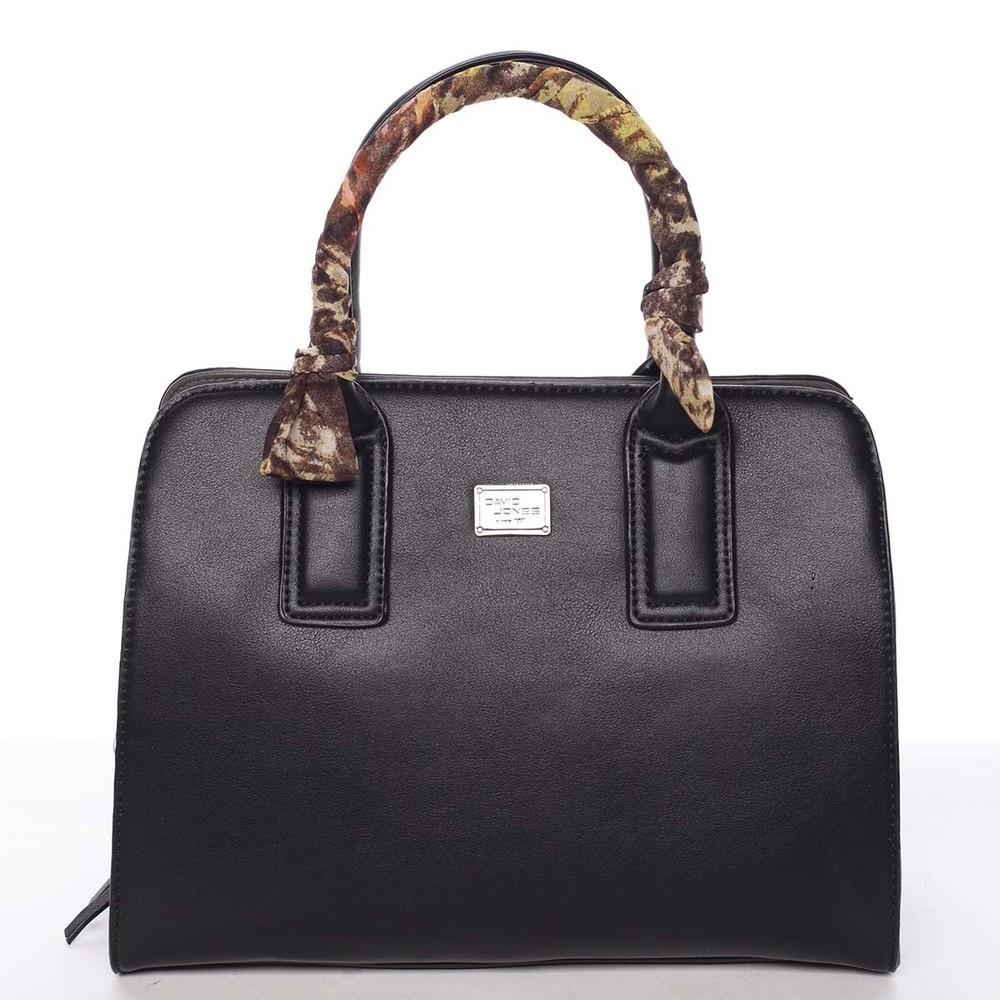 c1b54e65ed Štýlová trendy dámska kabelka do ruky čierna - David Jones Crescent ...