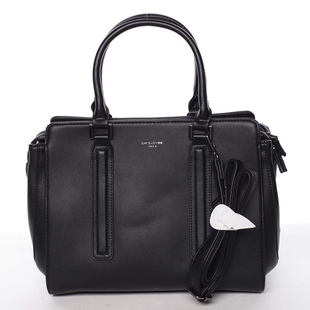 Elegantná štýlová dámska čierna kabelka - David Jones Amedee - Kabea.cz 0f2ff531c39