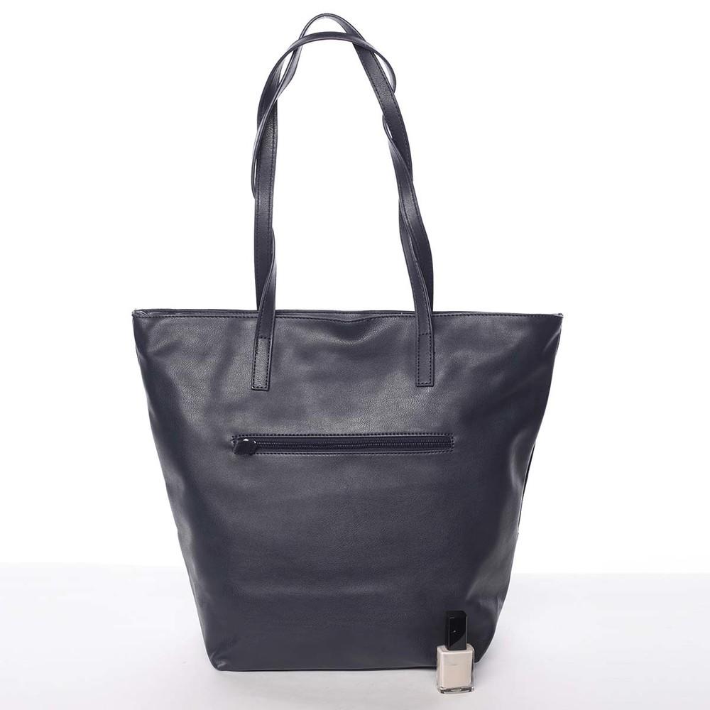 ... Jedinečná mäkká dámska tmavomodrá kabelka - David Jones Henriette ... b2b24e041af
