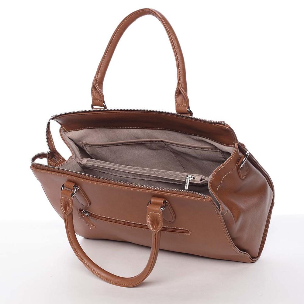 d5c0a6e236 Luxusná nadčasová dámska koňaková kabelka - David Jones Allison ...