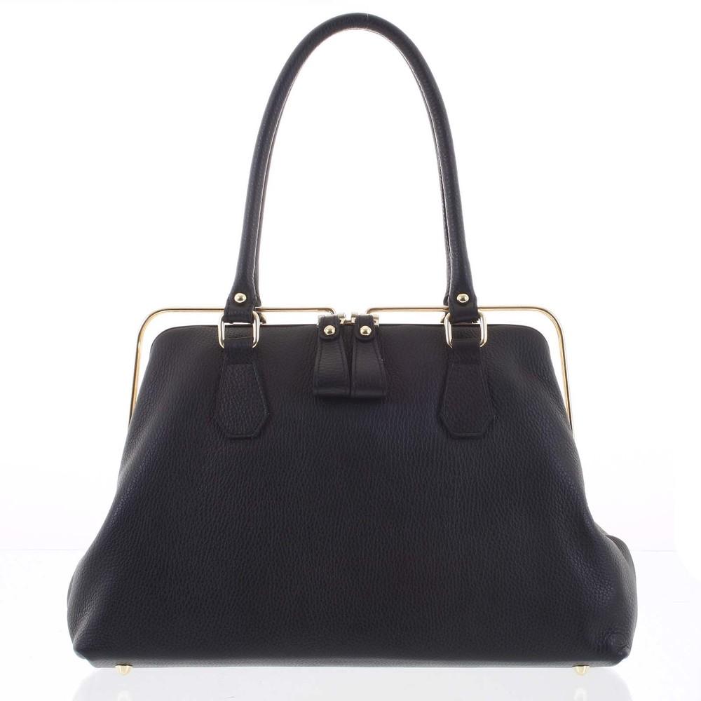 f62a1d017db5 Retro luxusná dámska kožená kabelka čierna - ItalY Esme - Kabea.cz