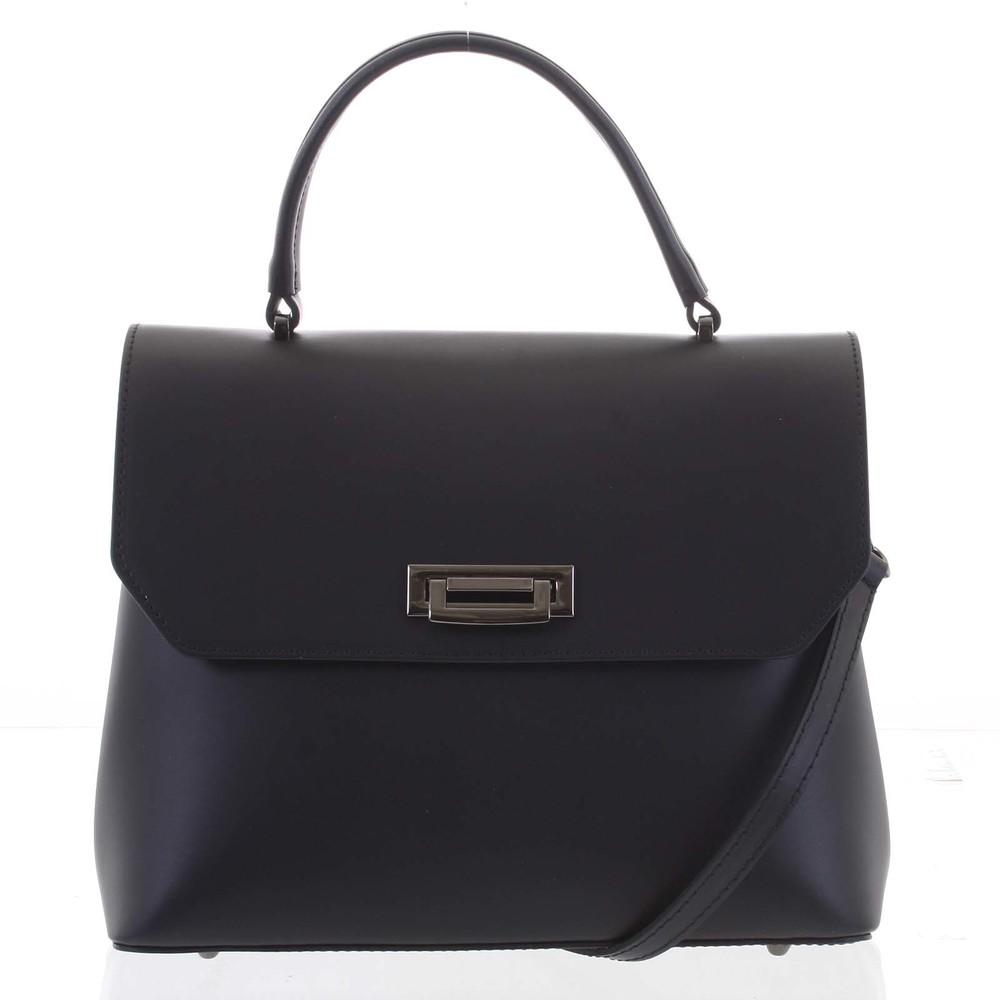 Originálna hladká čierna dámska kabelka do ruky - ItalY Neolila ... bc24160f768