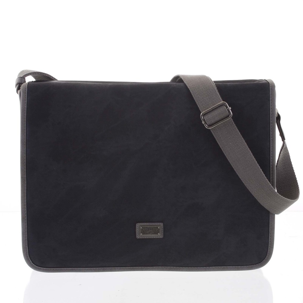 Veľká čierna moderná taška na notebook - Lee Cooper Aesculapius ... 0df37f58e7c