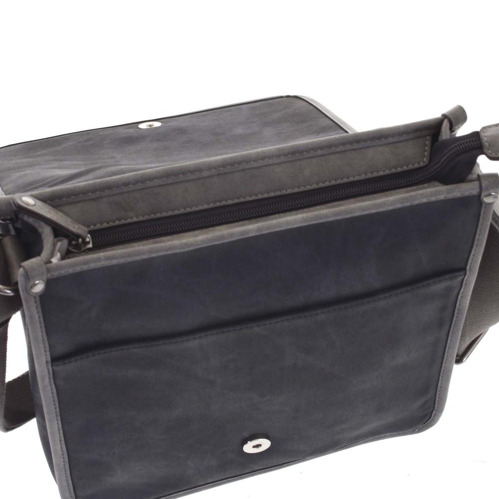2845c19749c5e Čierna moderná pánska taška cez rameno - Lee Cooper Adrastos - Kabea.cz