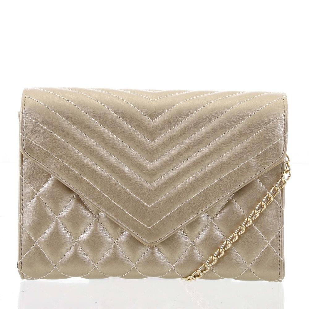 e3a698fe5 Originálna dámska prešívaná zlatá listová kabelka - Delami Agnella ...