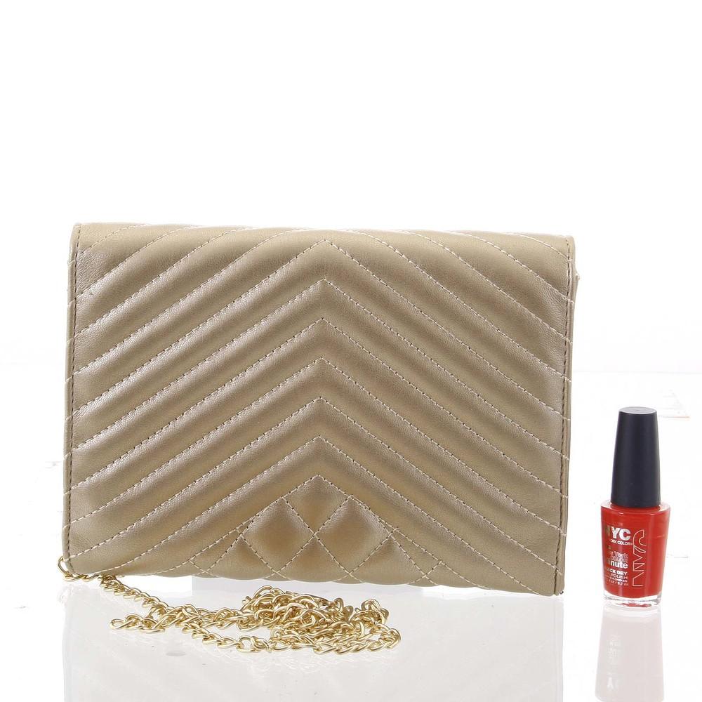 fd2ba2f0c ... Originálna dámska prešívaná zlatá listová kabelka - Delami Agnella ...