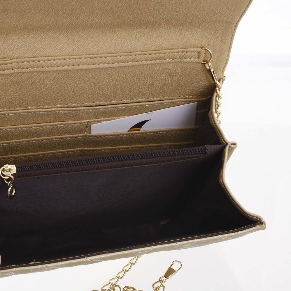c510e399e ... Originálna dámska prešívaná zlatá listová kabelka - Delami Agnella