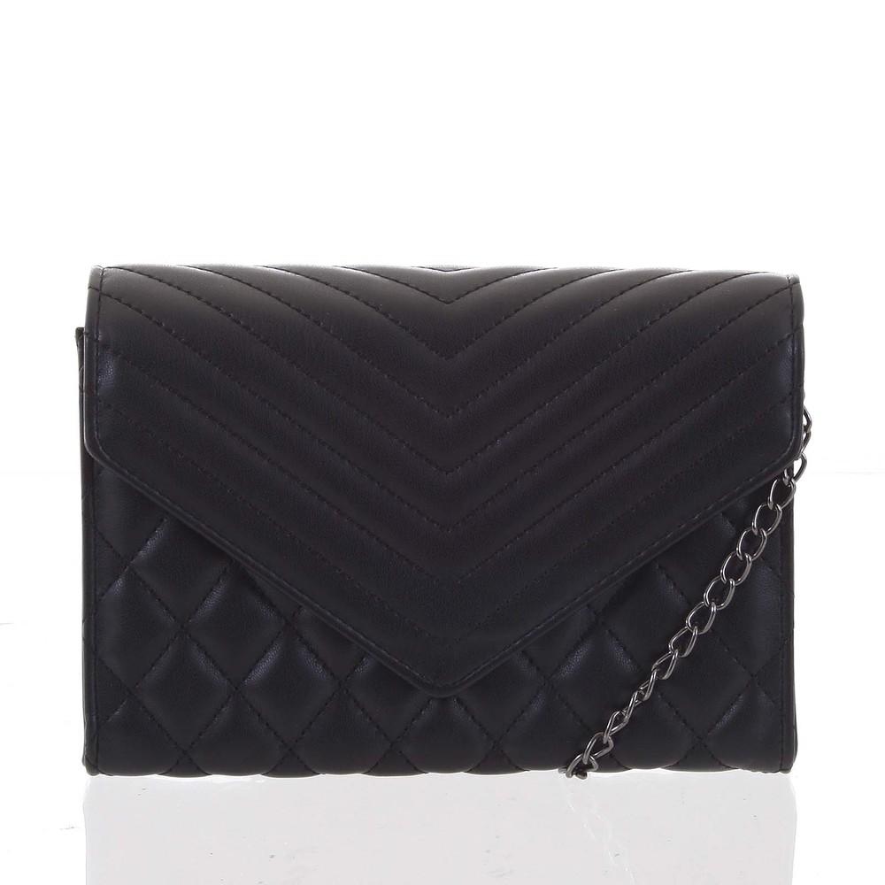 767d662b0 Originálna dámska prešívaná čierna listová kabelka - Delami Agnella ...