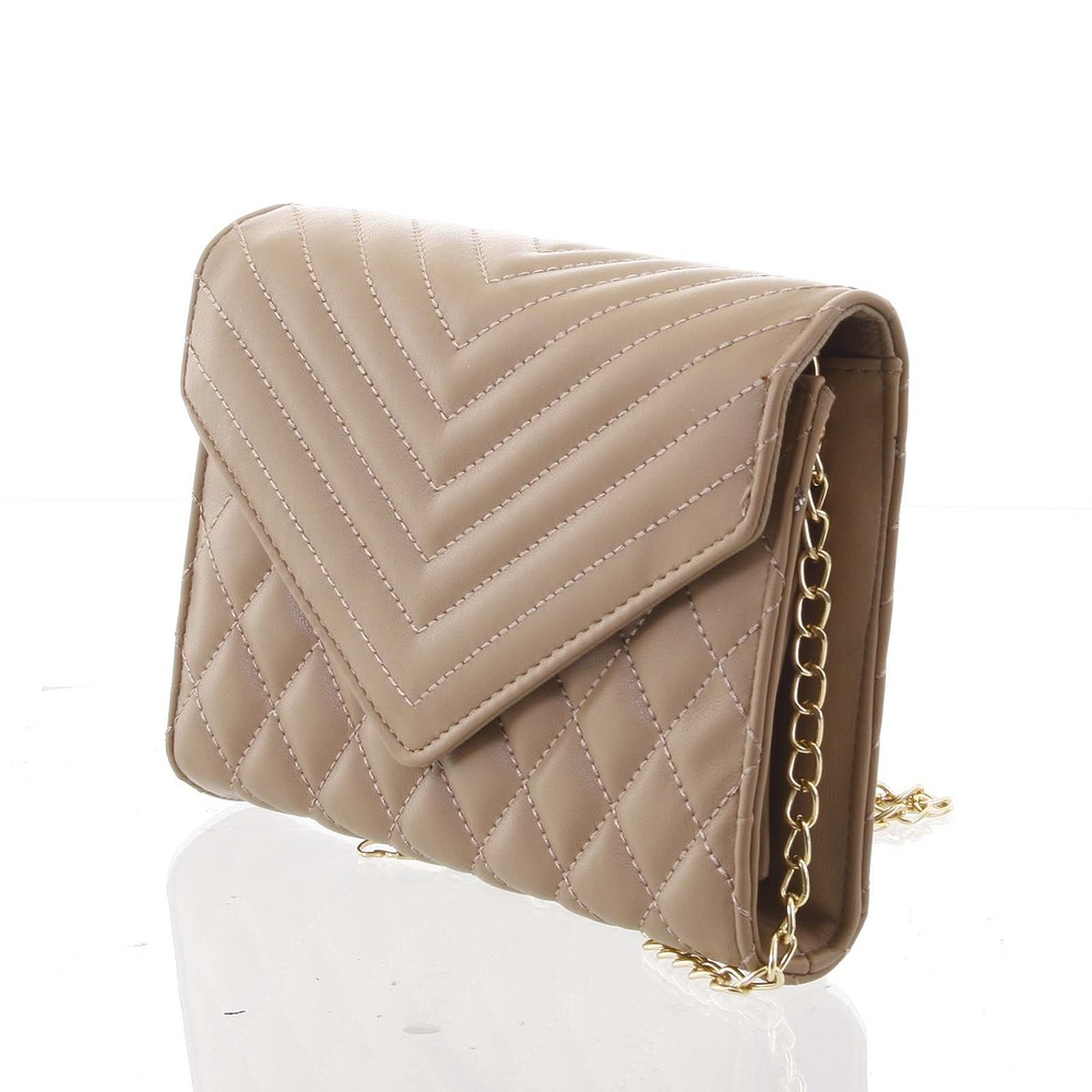 b8dd94eb2 ... Originálna dámska prešívaná khaki listová kabelka - Delami Agnella ...