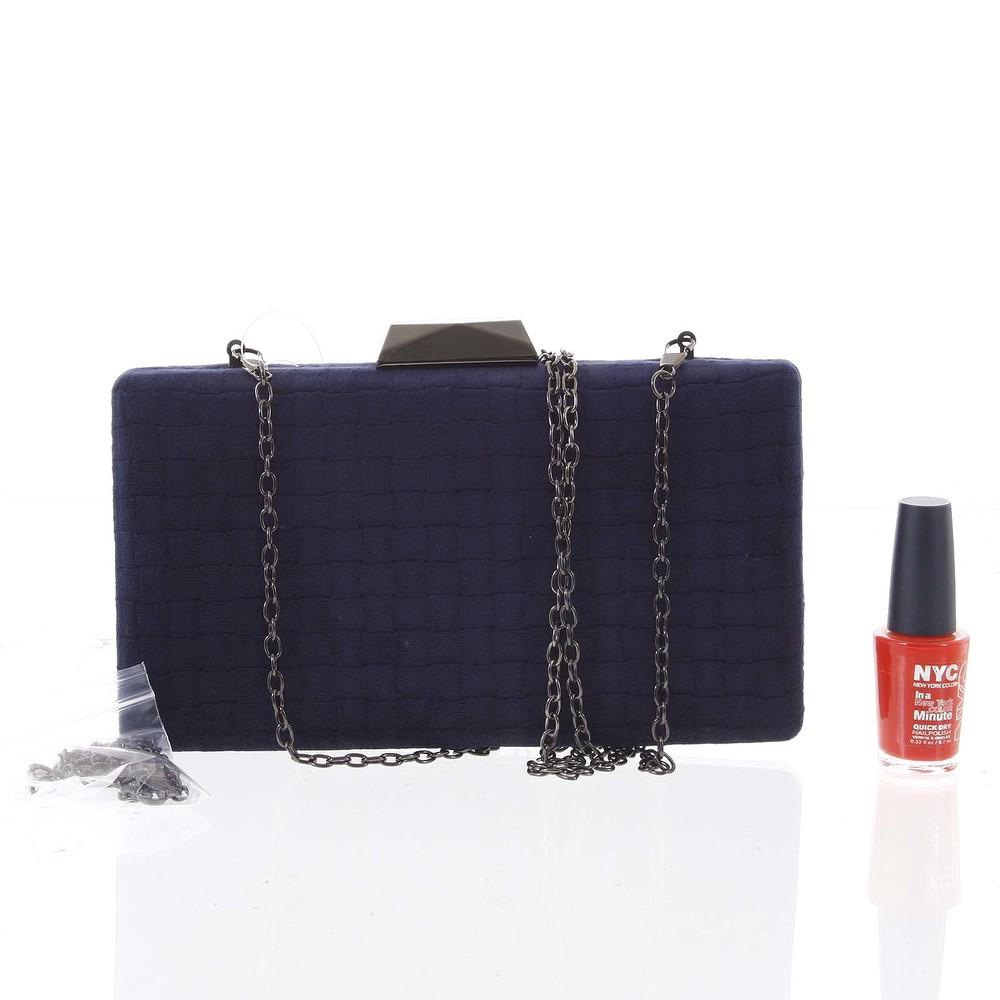 8983749e47 ... Luxusná semišová originálna tmavomodrá listová kabelka - Delami ZL093  ...