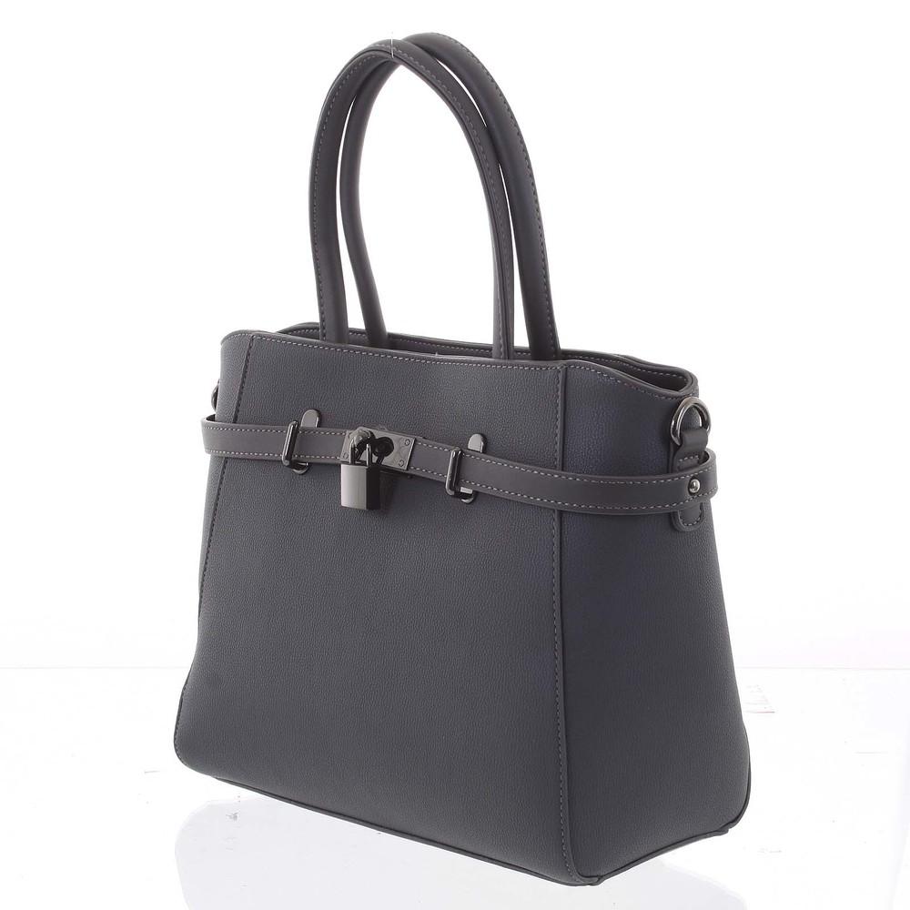 f3dd741e9e ... Luxusné štýlová menšie tmavo šedá kabelka do ruky - David Jones Haless  ...