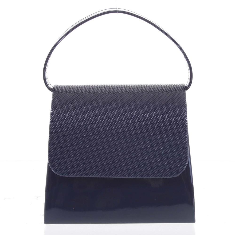 6485e27ceb Luxusná dámska listová kabelka kabelka tmavomodrá so vzorovanou klopou -  Delami DM103 ...