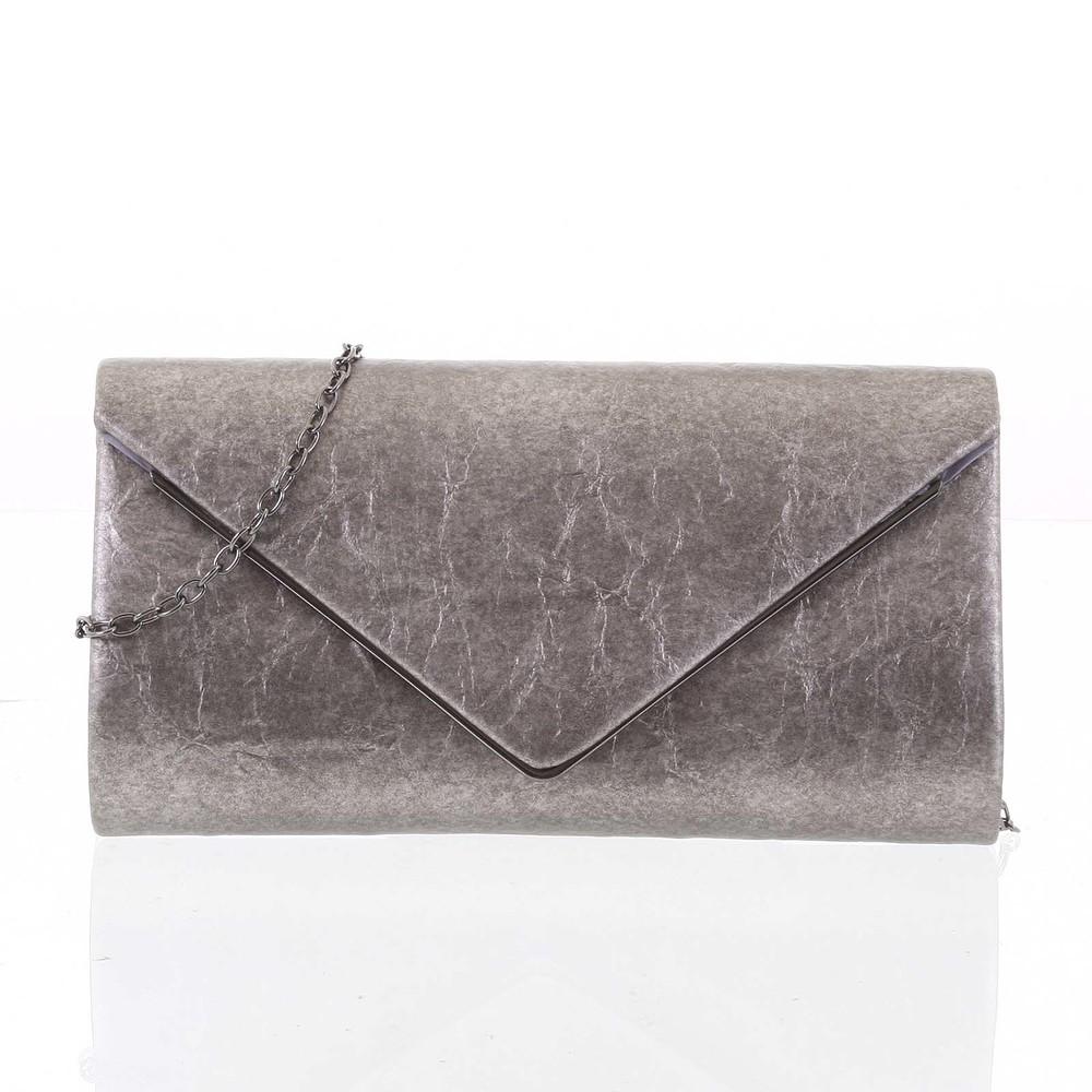 1a5b31983d6e Štýlová dámska listová kabelka vzorovaná sivo strieborná - Delami HD743 ...