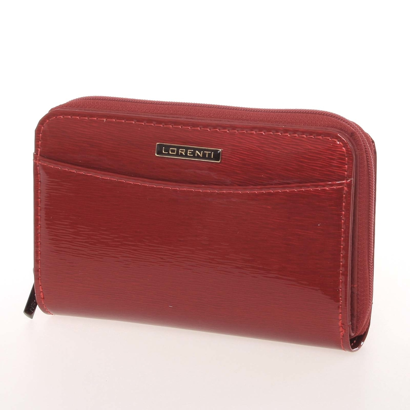 91cc913565 Luxusná dámska lakovaná kožená peňaženka červená - Lorenti 0112SH. Hnedá  farba ...