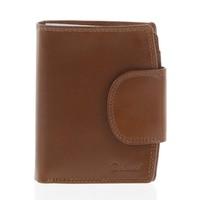 Kožená elegantná svetlohnedá peňaženka pre mužov - Delami 1342CHA 01d64f9374c