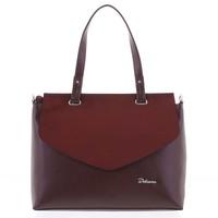 Elegantní pevná dámská kabelka do ruky vínová - Delami Jessie 1d9fb4a1430