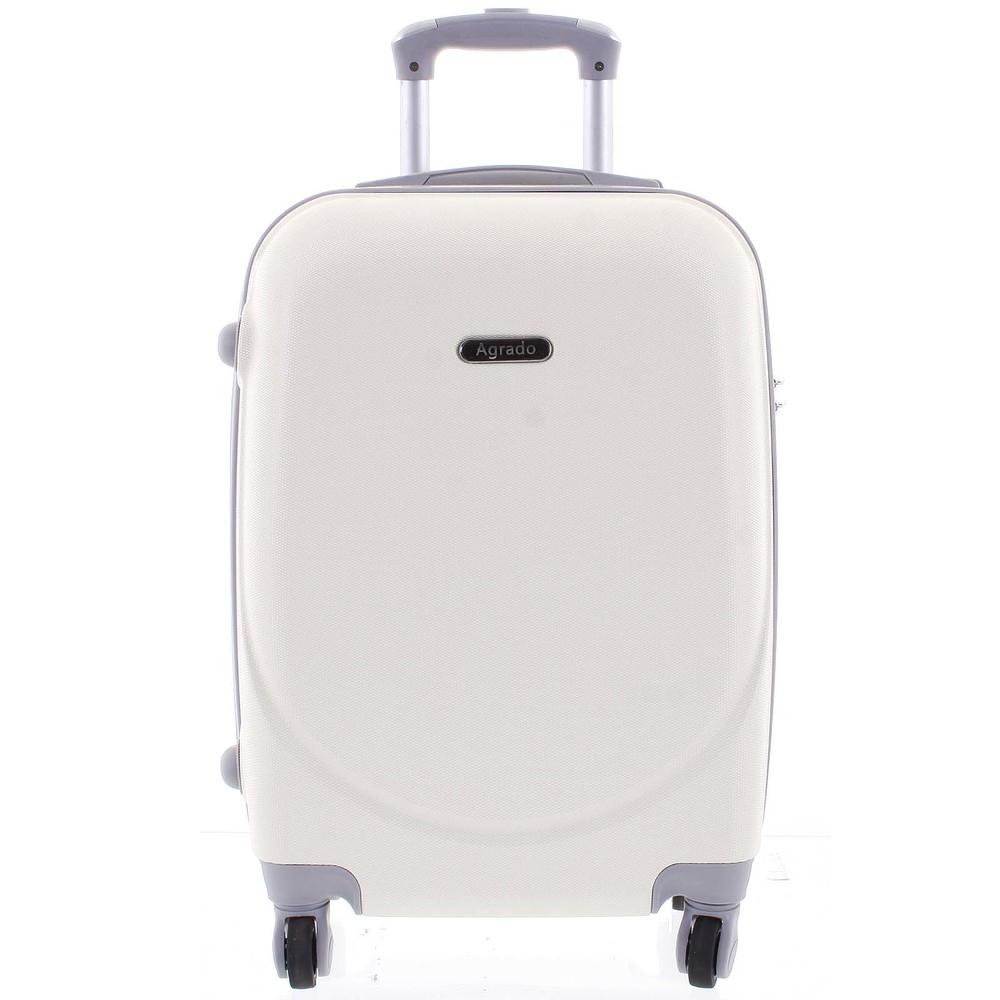 fc2ccedd09 Kvalitný a elegantný pevný krémovo biely cestovný kufor - Agrado Peter M ...
