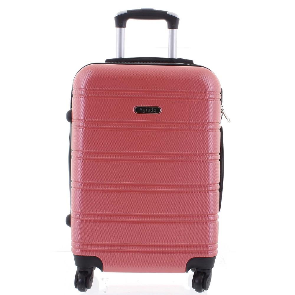 24fe12d439 Kvalitný a elegantný pevný ružový cestovný kufor - Agrado Michael M ...