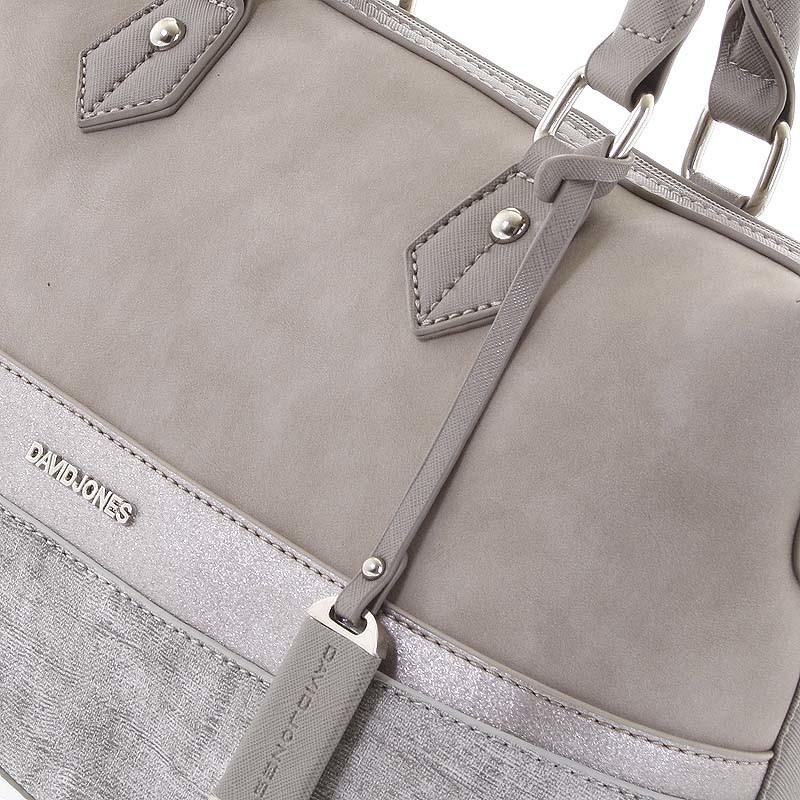 360248e9d5 Moderná sivá dámska kabelka do ruky - David Jones Lorelei - Kabea.cz
