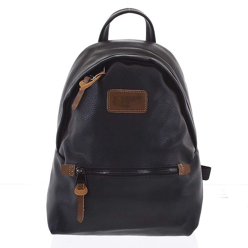 Dámsky mäkký moderný mestský ruksak čierny - David Jones Deziree ... ba3913f4bda