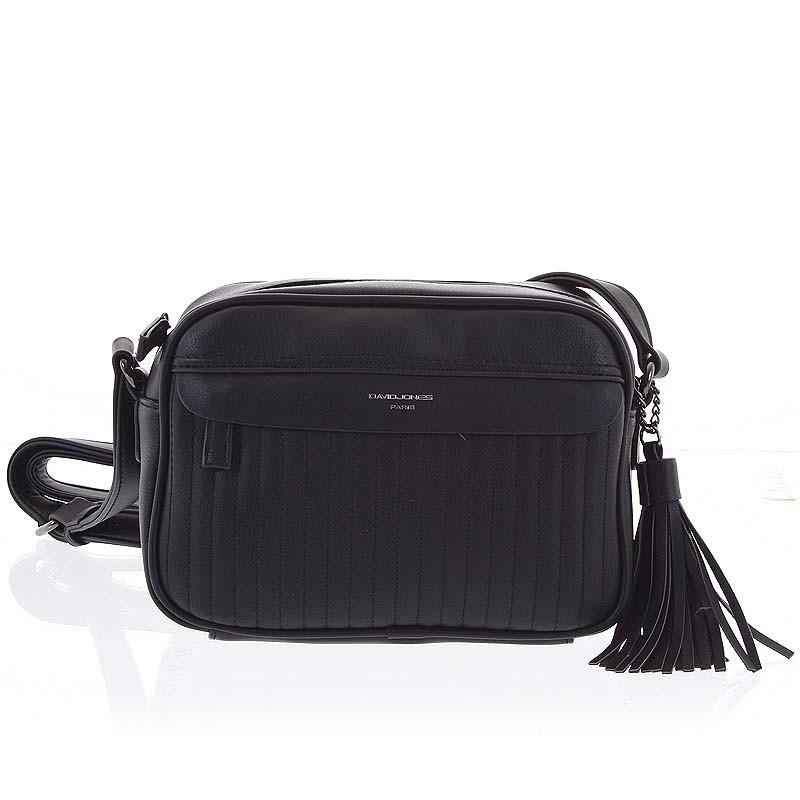 fdacc4d7924b Trendy dámska čierna crossbody kabelka - David Jones Marcellia ...