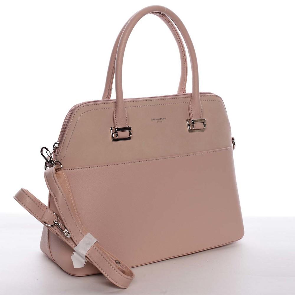 eaa04f021c Väčšia dámska elegantná a módna ružová kabelka - David Jones Angie ...